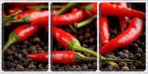 Quadro Decorativo 30x66 textura de pimentas vermelhas - Crie Life