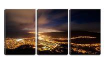Quadro Decorativo 30x66 vista de luzes na cidade - Crie Life