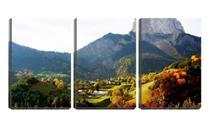 Quadro Decorativo 45x96 casinhas ao pé da montanha - Crie Life