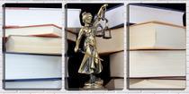 Quadro Decorativo 45x96 deusa da justiça de bronze - Crie Life