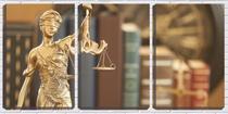 Quadro Decorativo 45x96 deusa da justiça dourada - Crie Life