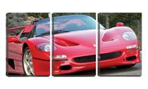 Quadro Decorativo 45x96 ferrari vermelha conversível - Crie Life