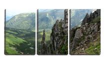 Quadro Decorativo 45x96 pedras vista de cima - Crie Life