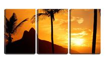 Quadro Decorativo 45x96 vista duas pedras entre palmeiras - Crie Life