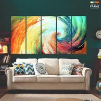 Quadro Decorativo 5 peças Abstrato3 Formas 140x65 1 - Wall frame