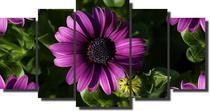 Quadro Decorativo 5 peças modelo flor - Quadros Decorativos