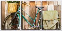 Quadro Decorativo 55x110 bicicleta velha na parede - Crie Life