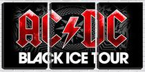 Quadro Decorativo 68x126 ac dc black ice - Crie Life