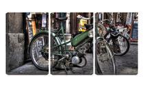 Quadro Decorativo 68x126 bicicleta antiga a motor - Crie Life