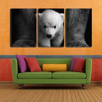 Quadro Decorativo 68x126 pequeno urso aos pés da mãe - Crie Life