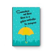 Quadro decorativo A4 Yellow Umbrella - Artgeek
