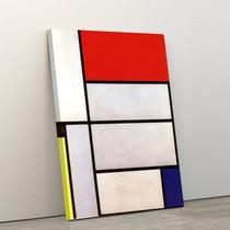 Quadro Decorativo Abstrato em Tela Canvas Retângulos Mosaico 40x60cm - Artplex