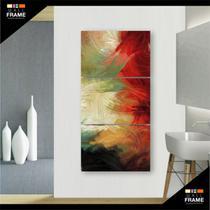 Quadro Decorativo Abstrato para Hall 3 Peças - Wall Frame