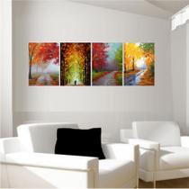 Quadro Decorativo Animais Abstrato 4uni 30x22 - Quadros mais