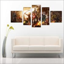 Quadro Decorativo Avengers Vingadores Homem De Ferro 5 Peças TT3 - Vital