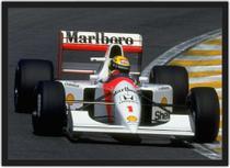 Quadro Decorativo Ayrton Senna Fórmula 1 Carros Decorações Com Moldura G02 - Vital Quadros