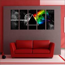 Quadro Decorativo Banda Pink Floyd Mosaico Com 5 Peças GG1 - Vital quadros do brasil