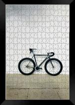 Quadro Decorativo Bicicleta quebra cabeça de 165 peças - Coleção art Bike + Toalha - Reidopendrive