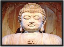 Quadro Decorativo Budismo Buda Chácras Com Moldura G02 - Vital Quadros
