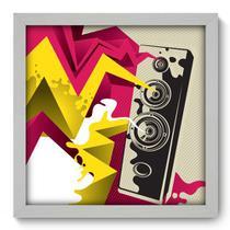 Quadro Decorativo - Caixa de Som - 33cm x 33cm - 031qdgb - Allodi