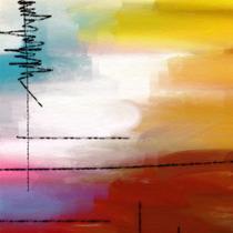 9f419e462 Quadro Decorativo Canvas p  Sala Escritório Consultório Abstrato Colors II  C - Incasa design