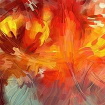 Quadro Decorativo Canvas p/ Sala Escritório Consultório Abstrato Colors III A - Incasa Design