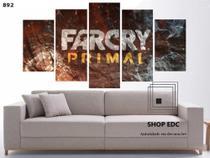 Quadro Decorativo Capa Far Cry Primal Game Quarto - Decorestudio