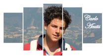 Quadro Decorativo Carlo Acutis Jovem - Mosaico - Católico Sou