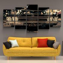 Quadro Decorativo Carro Antigo Impala Retro Vintage Muscle Conjunto 5 Sala Quarto Chevrolet - Toque Pop