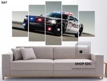 Quadro Decorativo Carro Polícia Americana Mosaico - Decorestudio