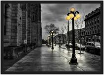 Quadro Decorativo Cidade Ruas De Paris Decoração Salas Quartos Com Moldura G01 - Vital Quadros