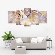 Quadro Decorativo Cisne Mosaico - Caverna Quadros