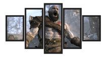 Quadro Decorativo Com Moldura Jogo God Of War 4 Kratos Game - Decorestudio