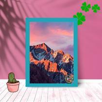 Quadro Decorativo Dolomitas Montanhosa C/ Moldura e Vidro 25x33 - Foto Paint
