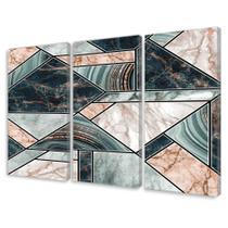 Quadro Decorativo em Canvas Mosaico Abstrato de Mármore - Império