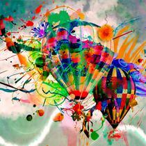 Quadro Decorativo em Canvas para Quarto Infantil Balao - Incasa Design