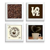 Quadro Decorativo Frases Love Coffee Coffee House Amante de Café Cozinha Cafeteria Cantinho do Café - Ateliê Dos Quadros
