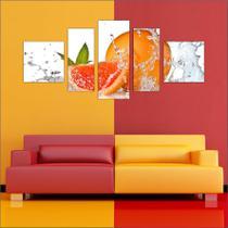 Quadro Decorativo Frutas Restaurantes Cozinha 5 Peças TT20 - Vital