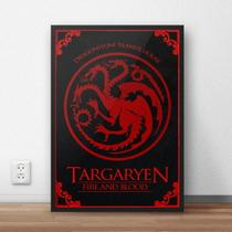 Quadro Decorativo Game of Thrones - Targaryen - Carmélia personalizados