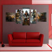 Quadro decorativo Games Jogos Assassin's Creed Salas Quartos 5 Peças TT1 - Vital