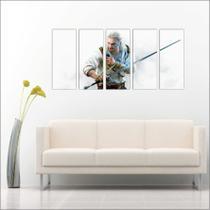 Quadro Decorativo Games The Witcher Jogos Mosaico Com 5 Peças GG1 - Vital