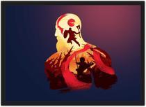 Quadro Decorativo God Of War Games Jogos Geek Decorações Com Moldura G02 - Vital Quadros