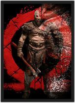 Quadro Decorativo God Of War Games Jogos Geek Decorações Com Moldura G03 - Vital Quadros