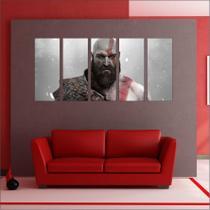 Quadro Decorativo God Of War Games Jogos Mosaico Com 5 Peças GG1 - Vital