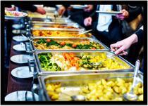 Quadro Decorativo Gourmet Prato Buffet Restaurantes Self-Service Com Moldura RC71 - Vital Printer
