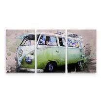 Quadro Decorativo Kombi Vintage Retrô Verde Top Sala - Wall frame