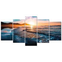 Quadro Decorativo Mar Por Do Sol Praia Sala Empresa Sala - Creative Frames