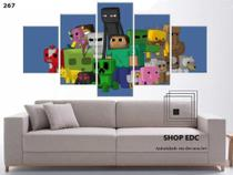 Quadro Decorativo Minecraft Jogo Quarto Mosaico - Decorestudio