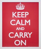 Quadro Decorativo Moldura Branca Keep Calm 40x50cm - Decore pronto