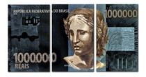 Quadro decorativo mosaico 3 pçs 1 Milhão - Neyrad